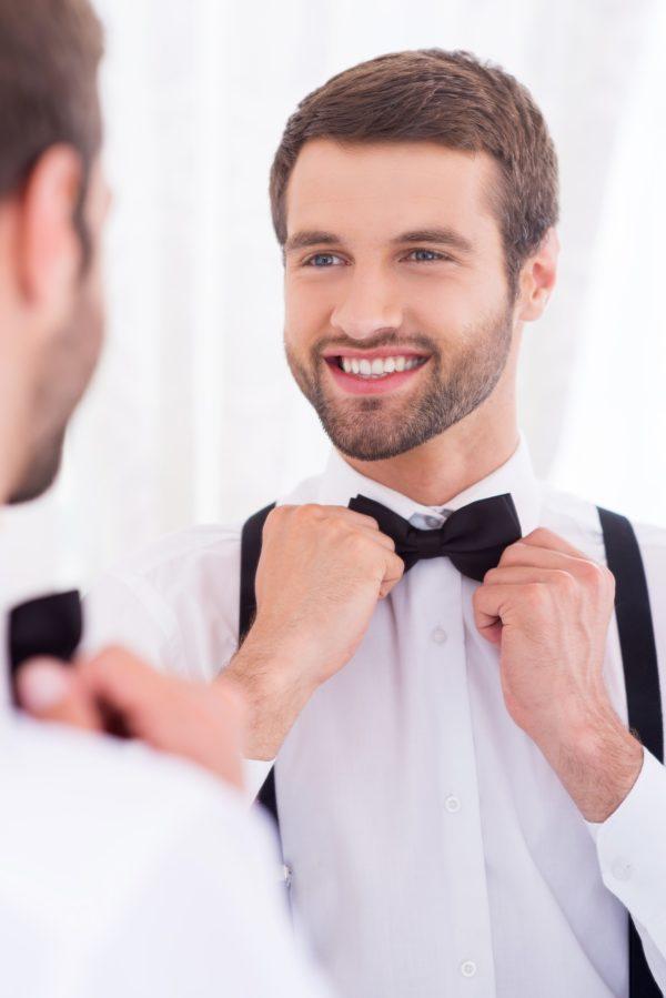 Happy groom.